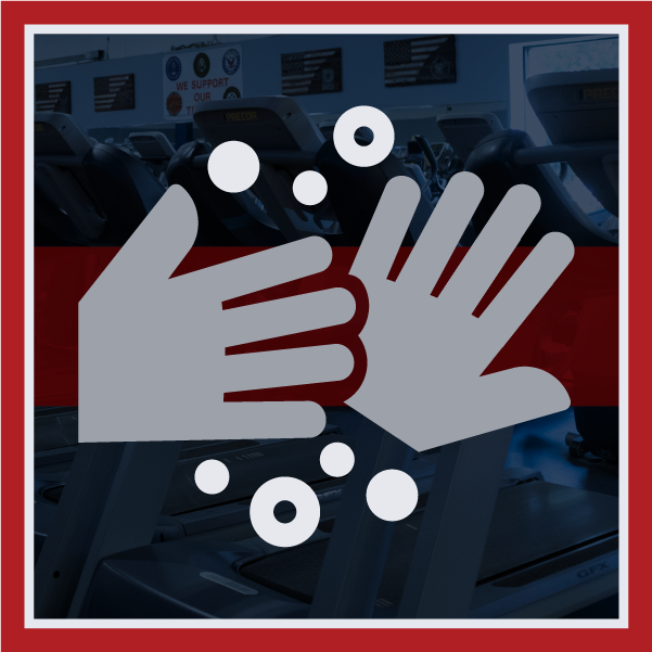 Icon showing hand-washing