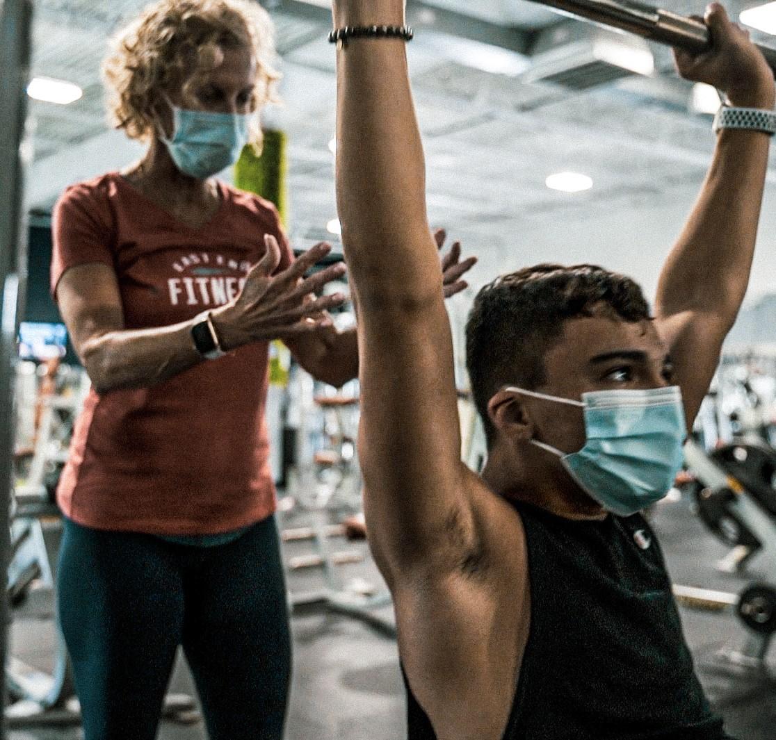 Photo of Trainer Laura training someone